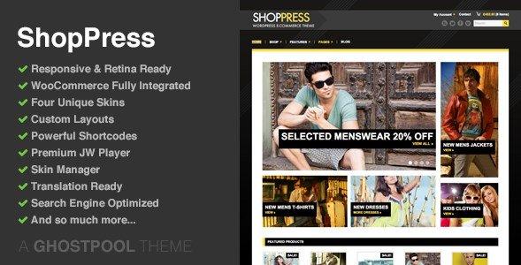 ShopPress – Responsive WooCommerce Theme