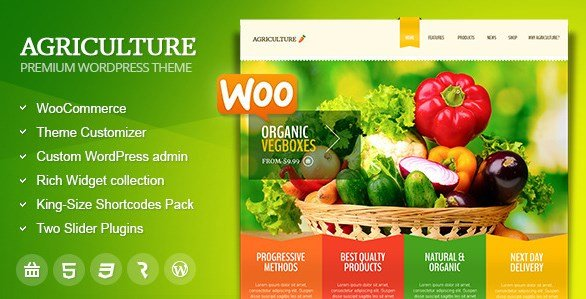 Agriculture – All-in-One WooCommerce WP Theme