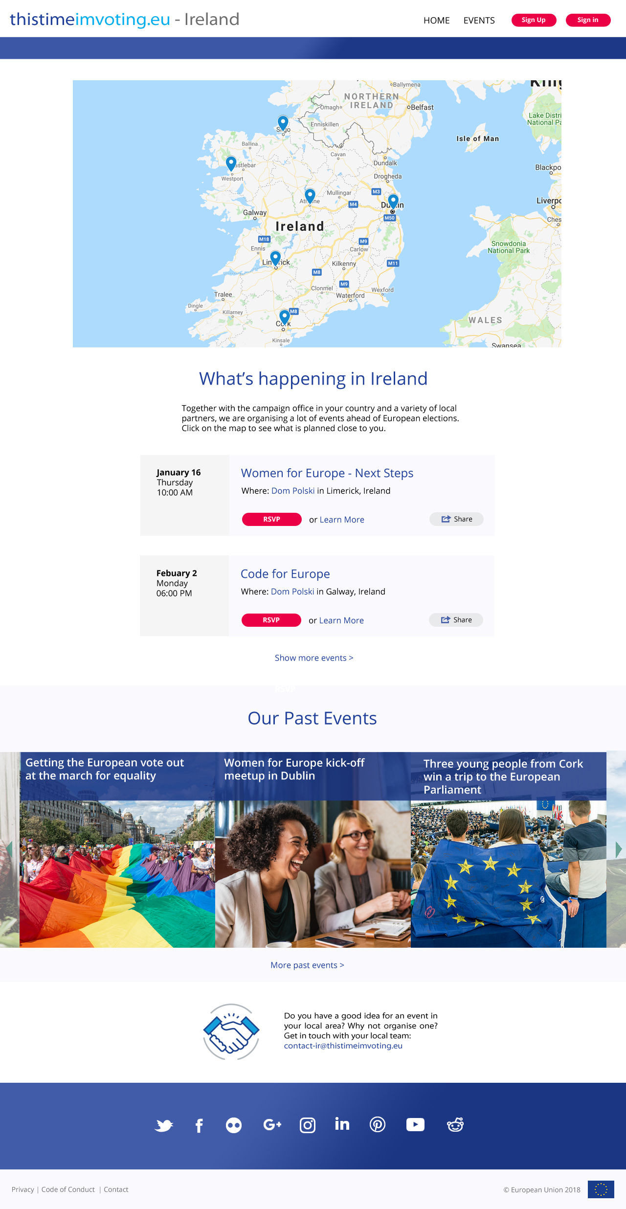 thistimeimvoting.eu - county specific example screenshot