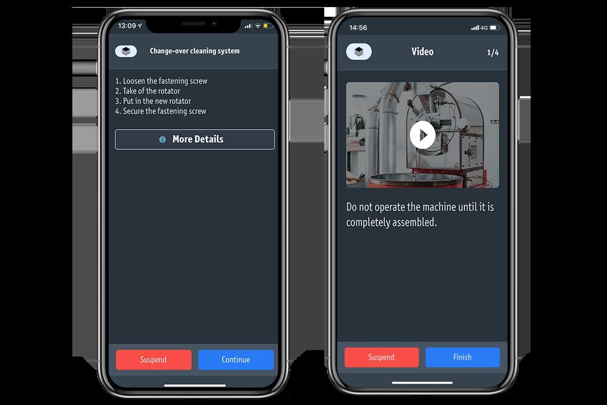 Example: Machine setup app
