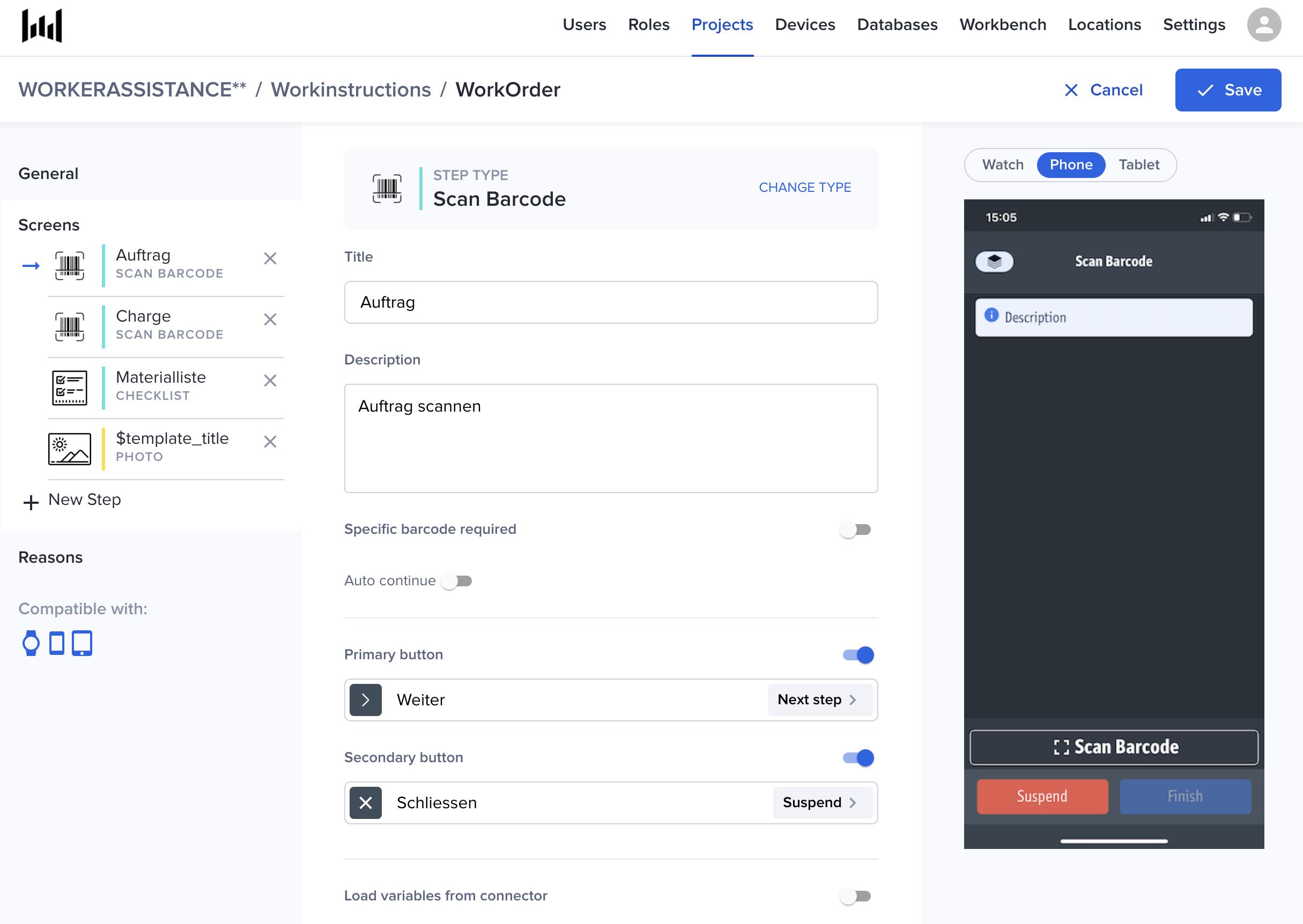 Workerbase digital checklist creation