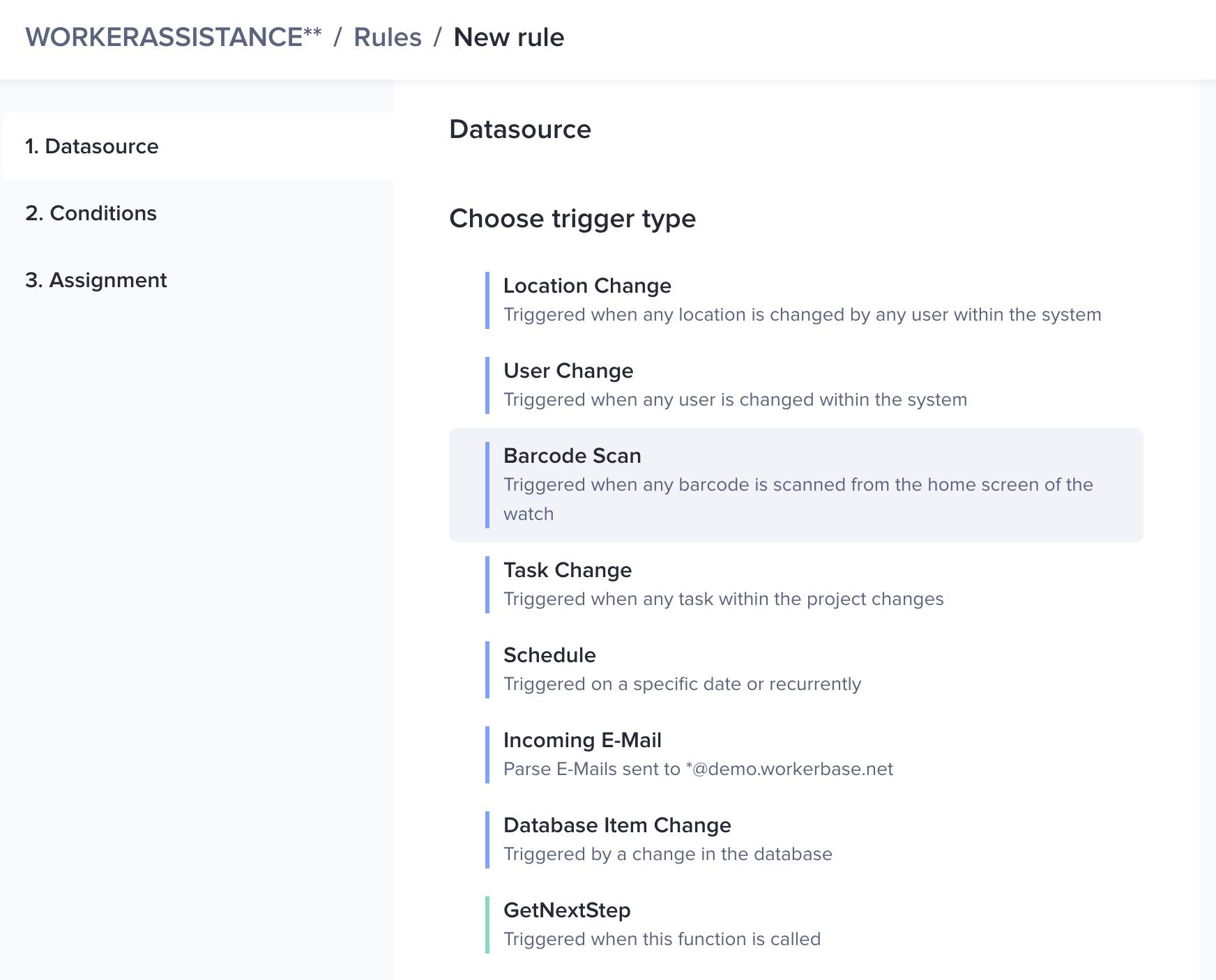 Rule engine for digital checklists