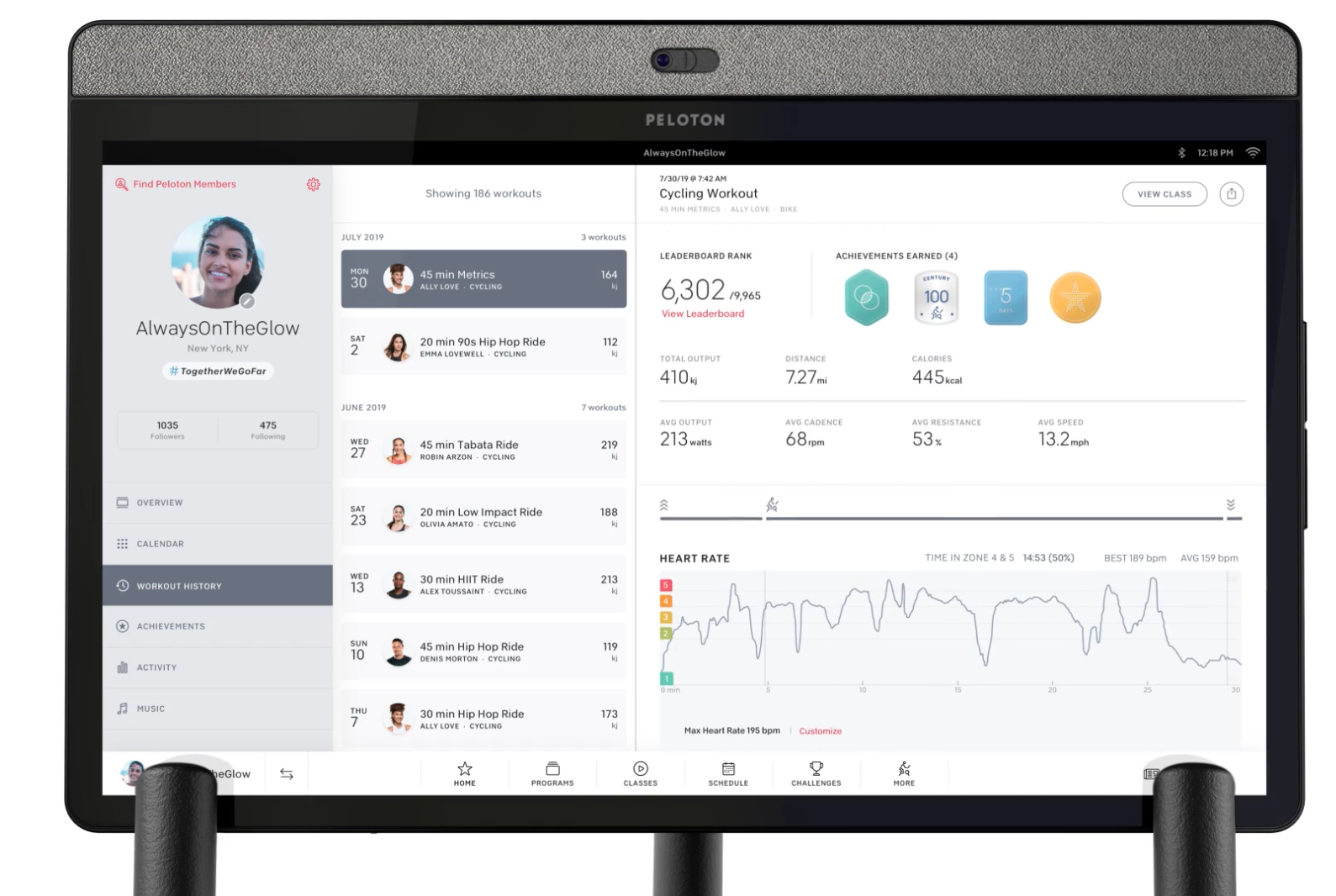 Peloton data analytics