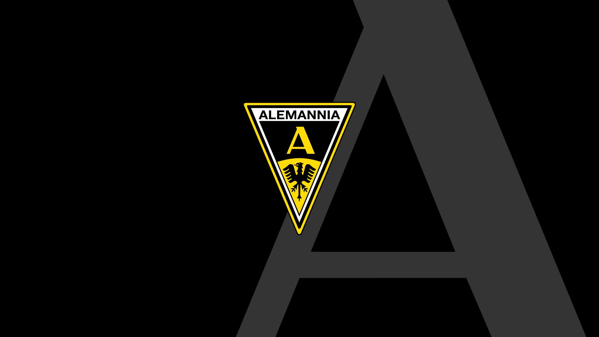 Das Alemannia Aachen Logo auf dem stilisiertem Traditions-A.
