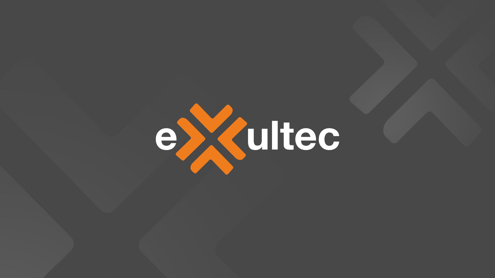 Das Exultec Logo auf dunklem Hintergrund.
