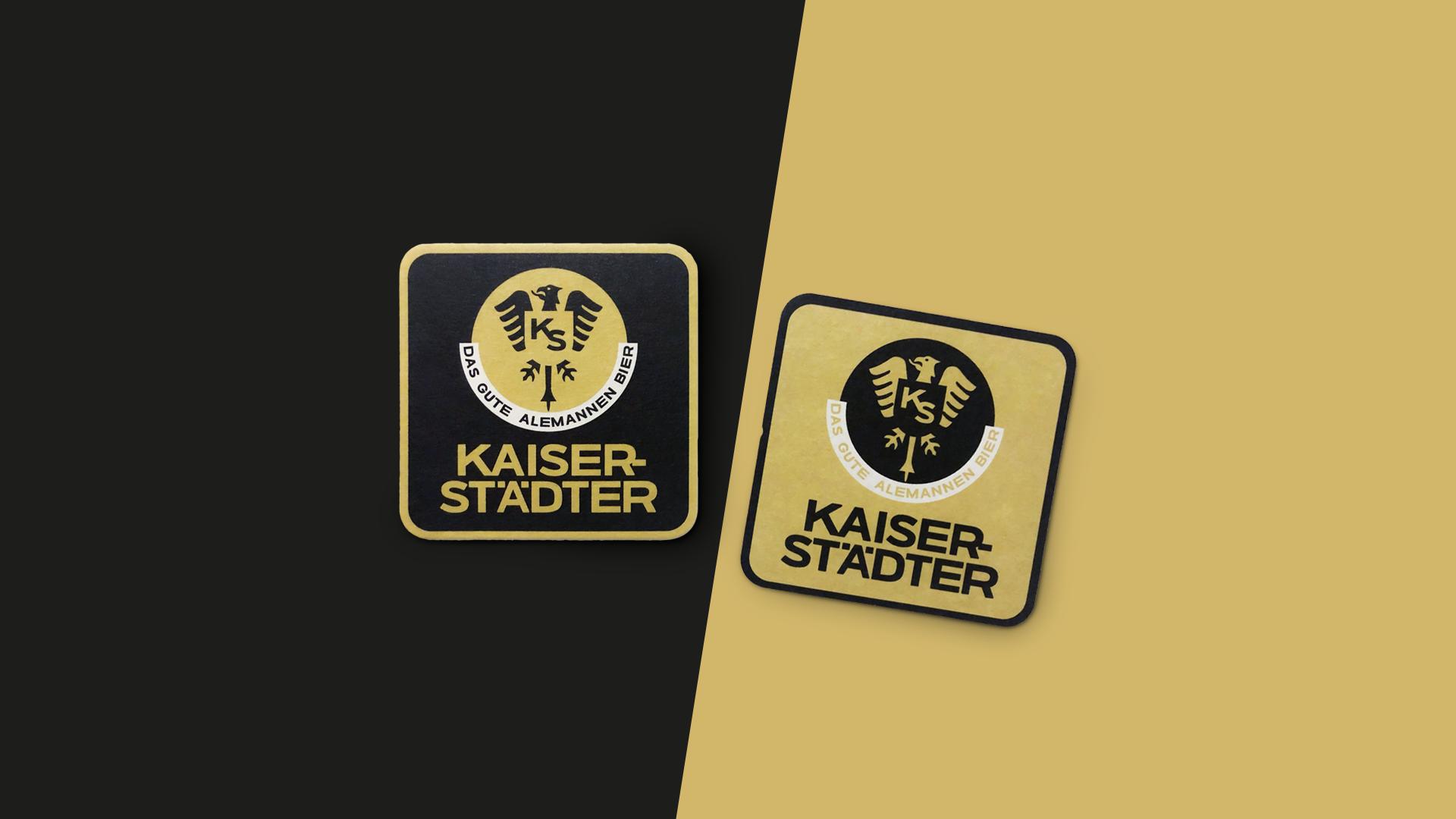 Bieruntersetzer im Coporate Design von Kaiserstädter.