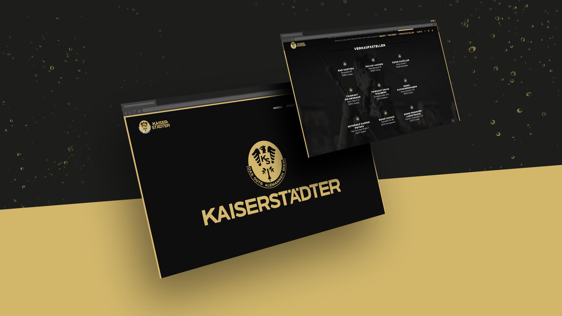 Screenshots der Homepage von Kaiserstädter.