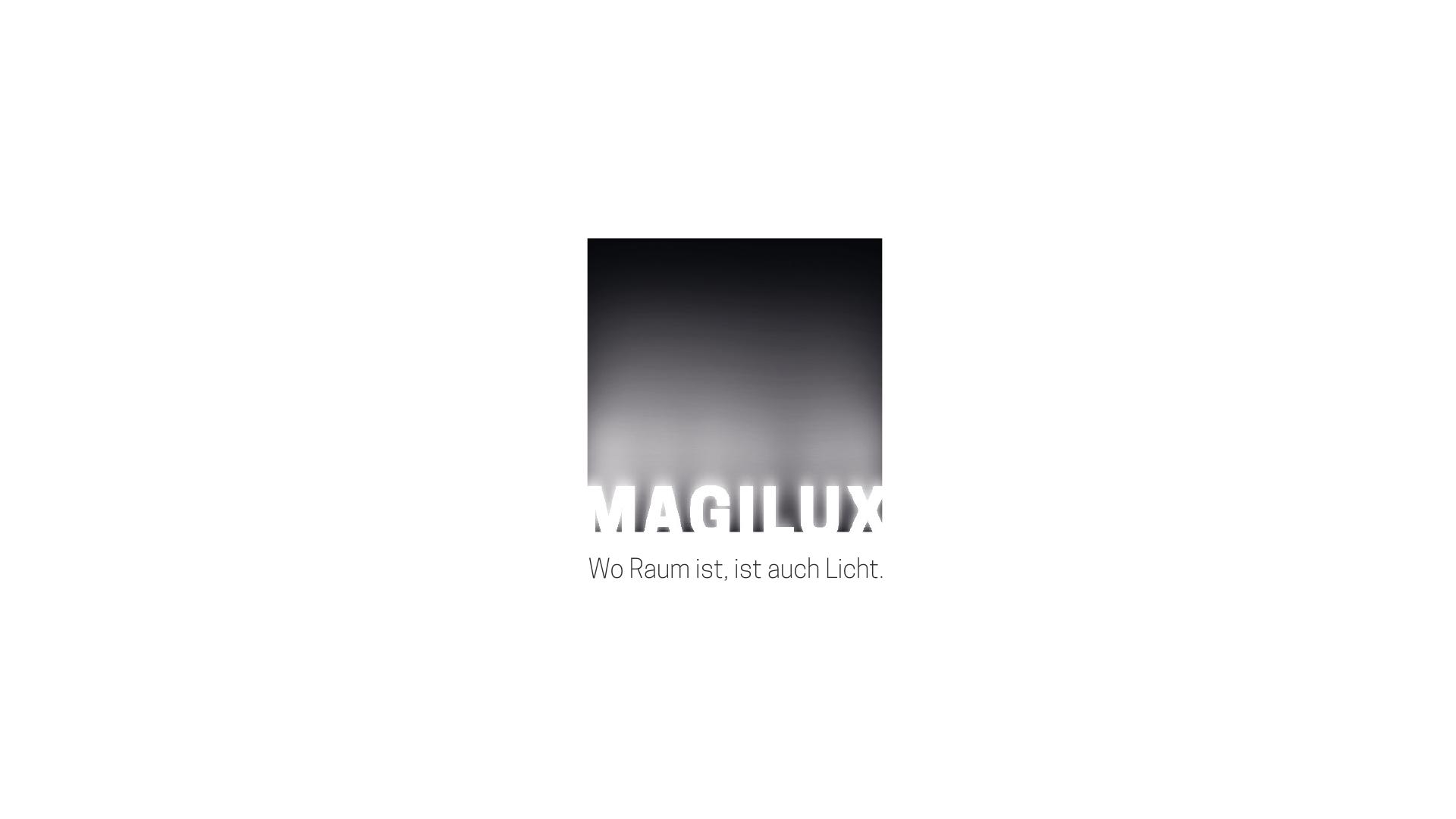 """MAGILUX Logo mit dem Claim """"Wo Raum ist, ist auch Licht."""""""