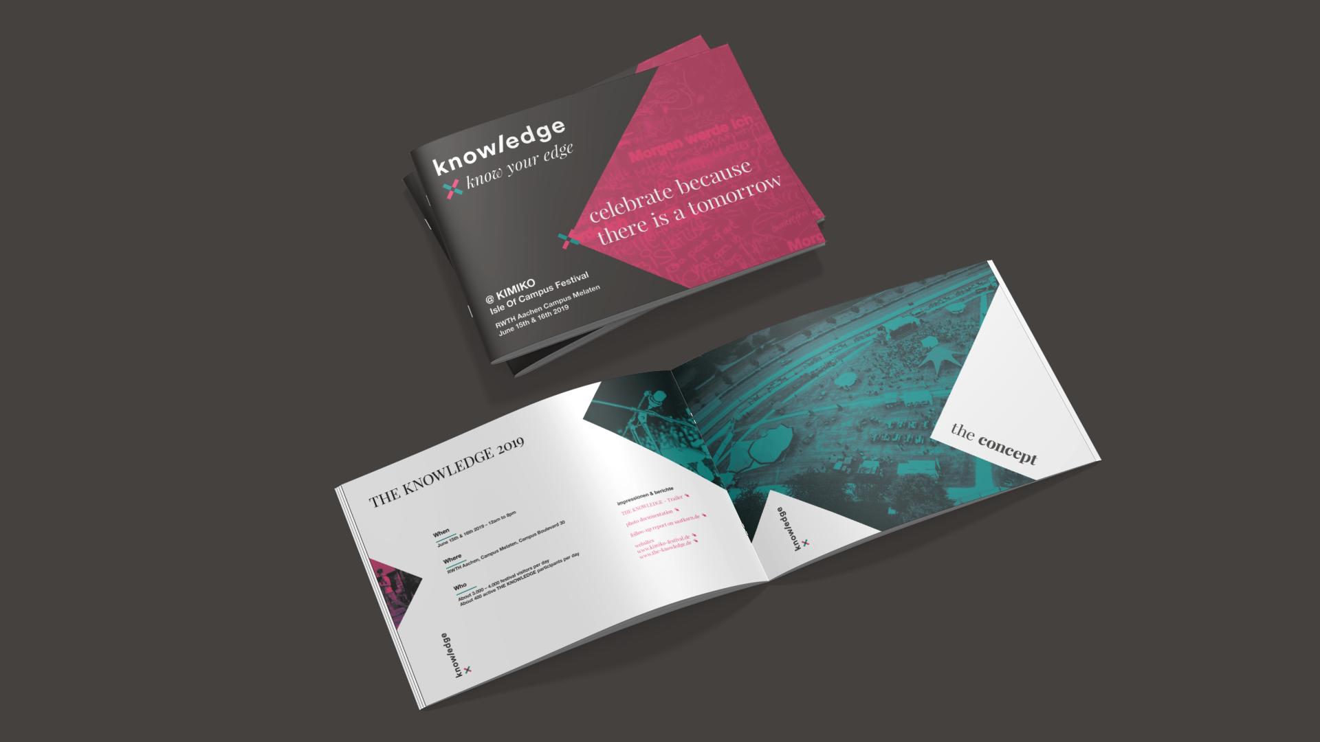 Salesbroschüre für den Vertrieb im Corporate Design von The Knowledge.