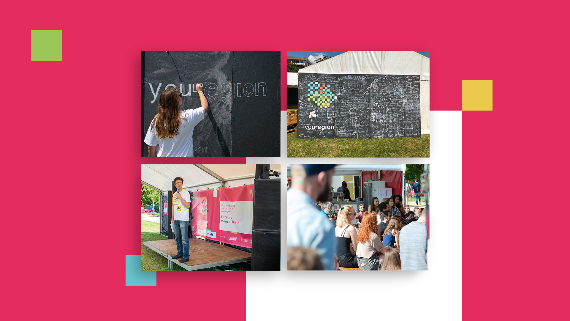Bilder vom Interreg Euregio Maas-Rhein Projektes youRegion auf dem KIMIKO Isle of Campus Festival 2019.