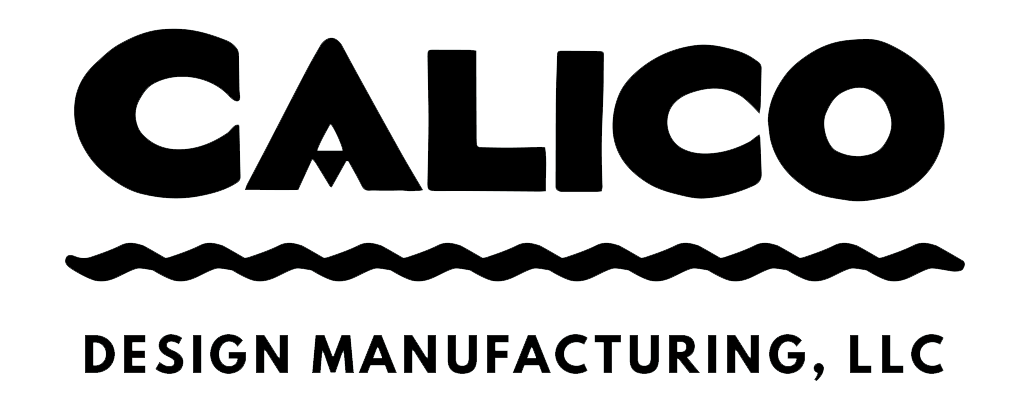calico design manufacturing main logo, black on white.