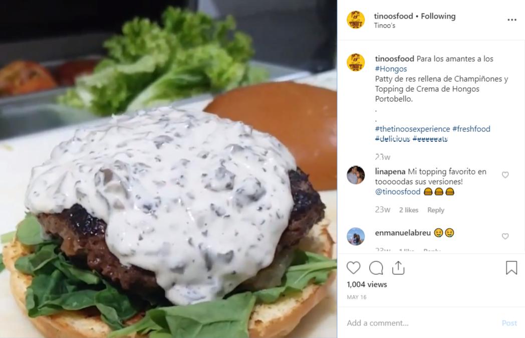 Tinoos food hamburguesa