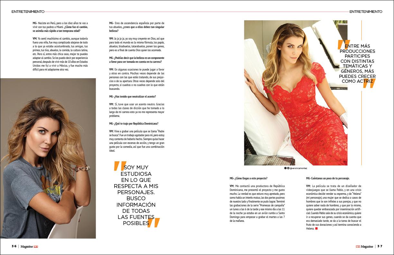 Página interior entrevista Magazine El Nuevo Diario Marzo 2020
