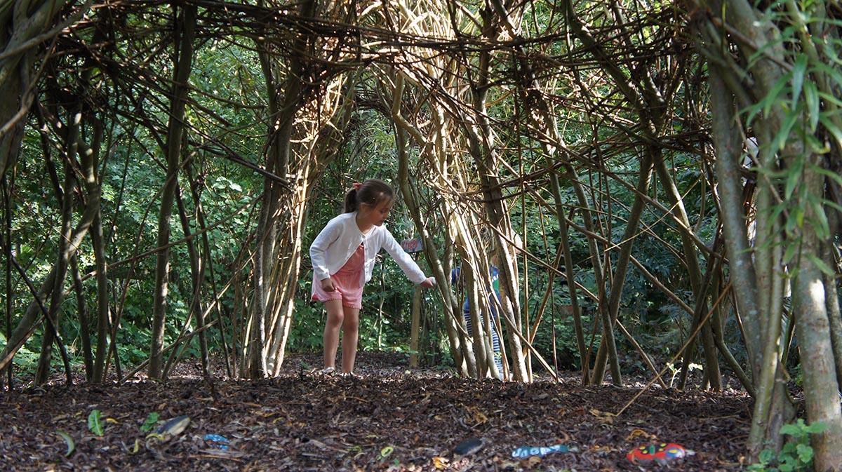 Living willow wigloo at Ellicar Gardens