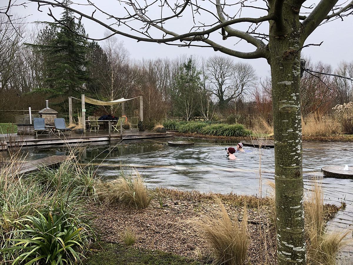 Wild swimming at Ellicar Gardens