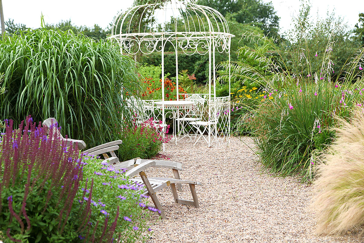 Gravel garden and chair