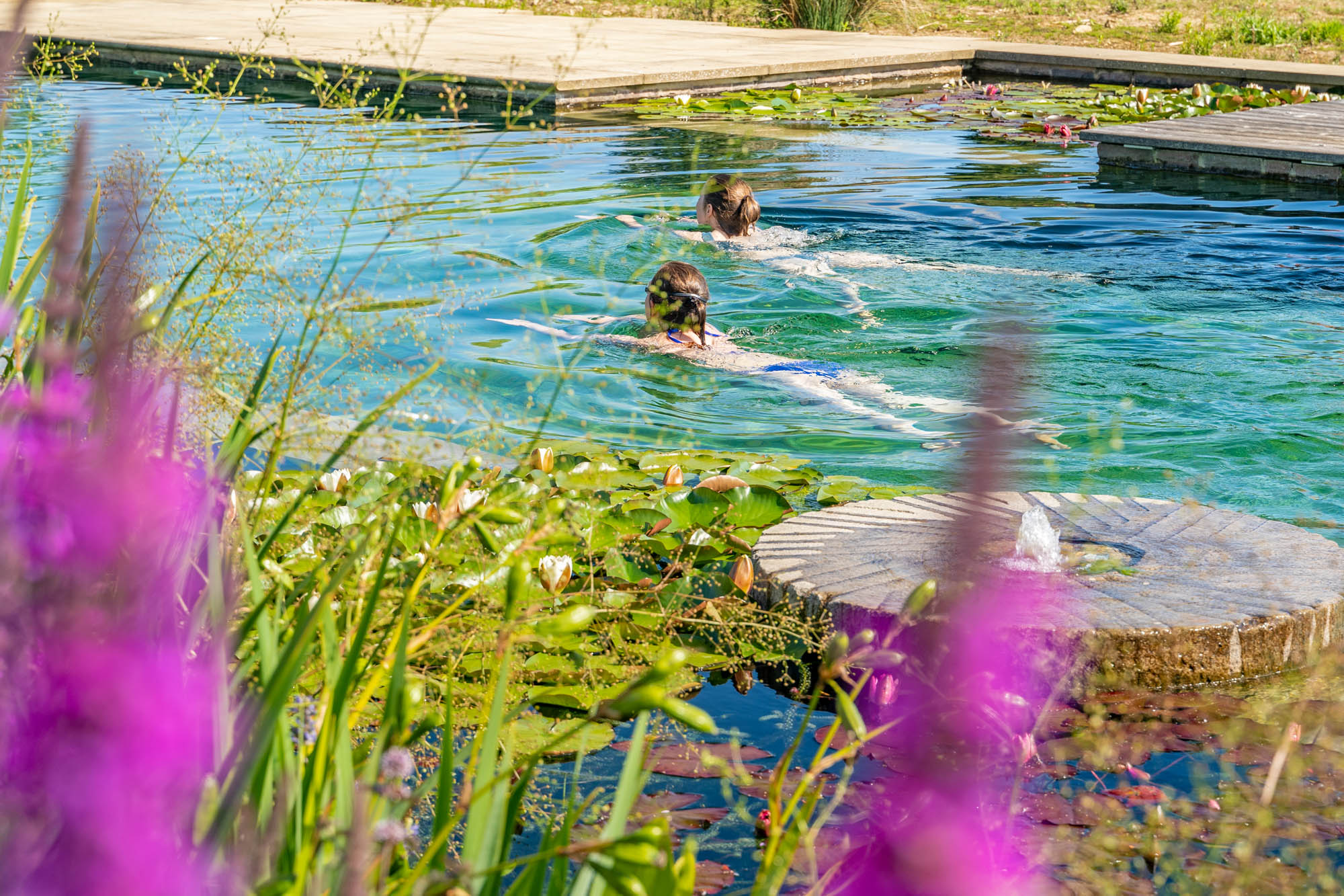 Swimming and Mill stone