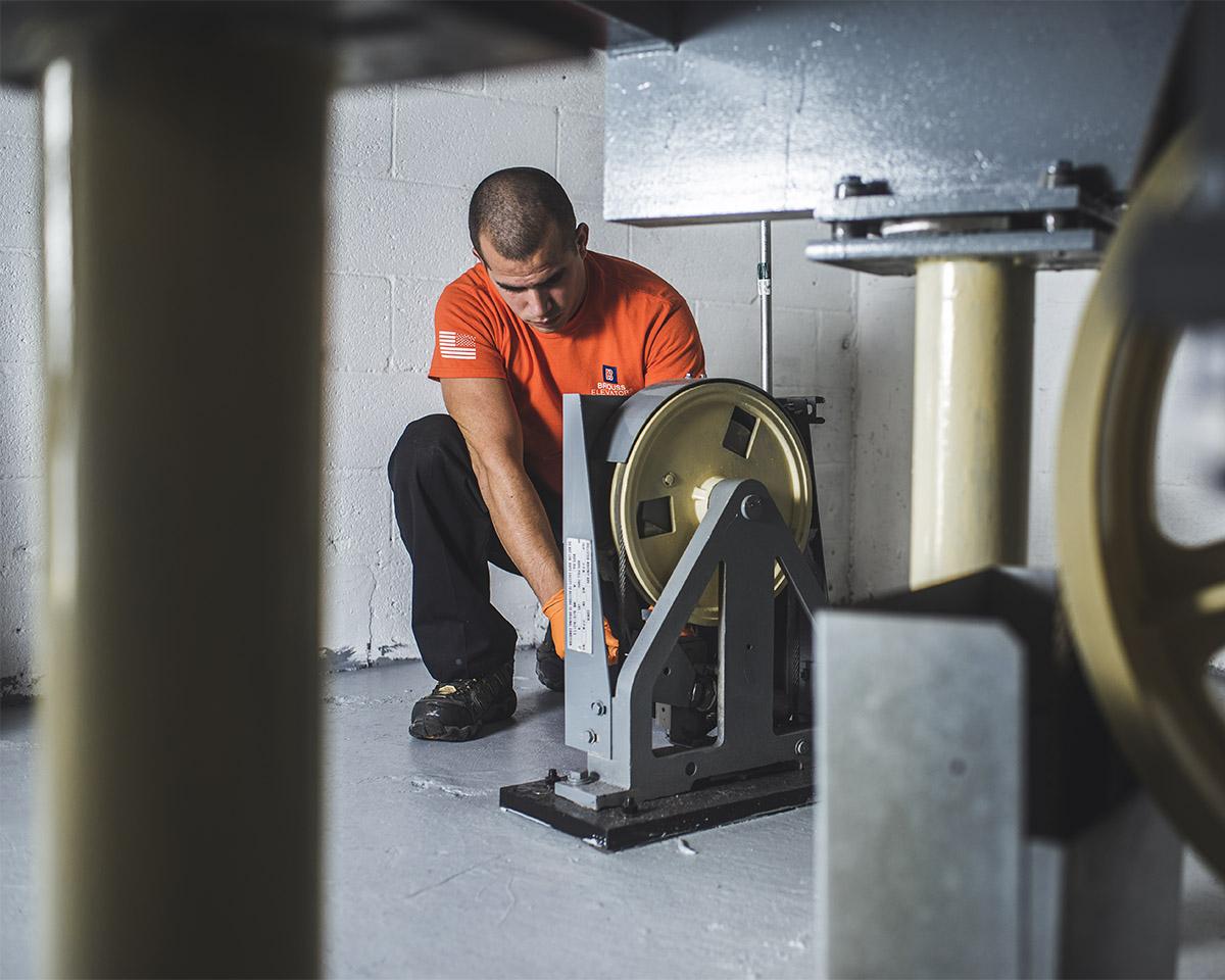 Brouss Elevators providing elevator maintenance