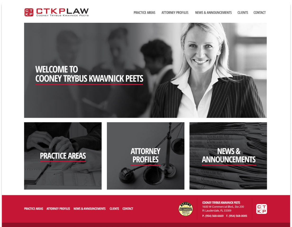 CTKP Law Website Screenshot