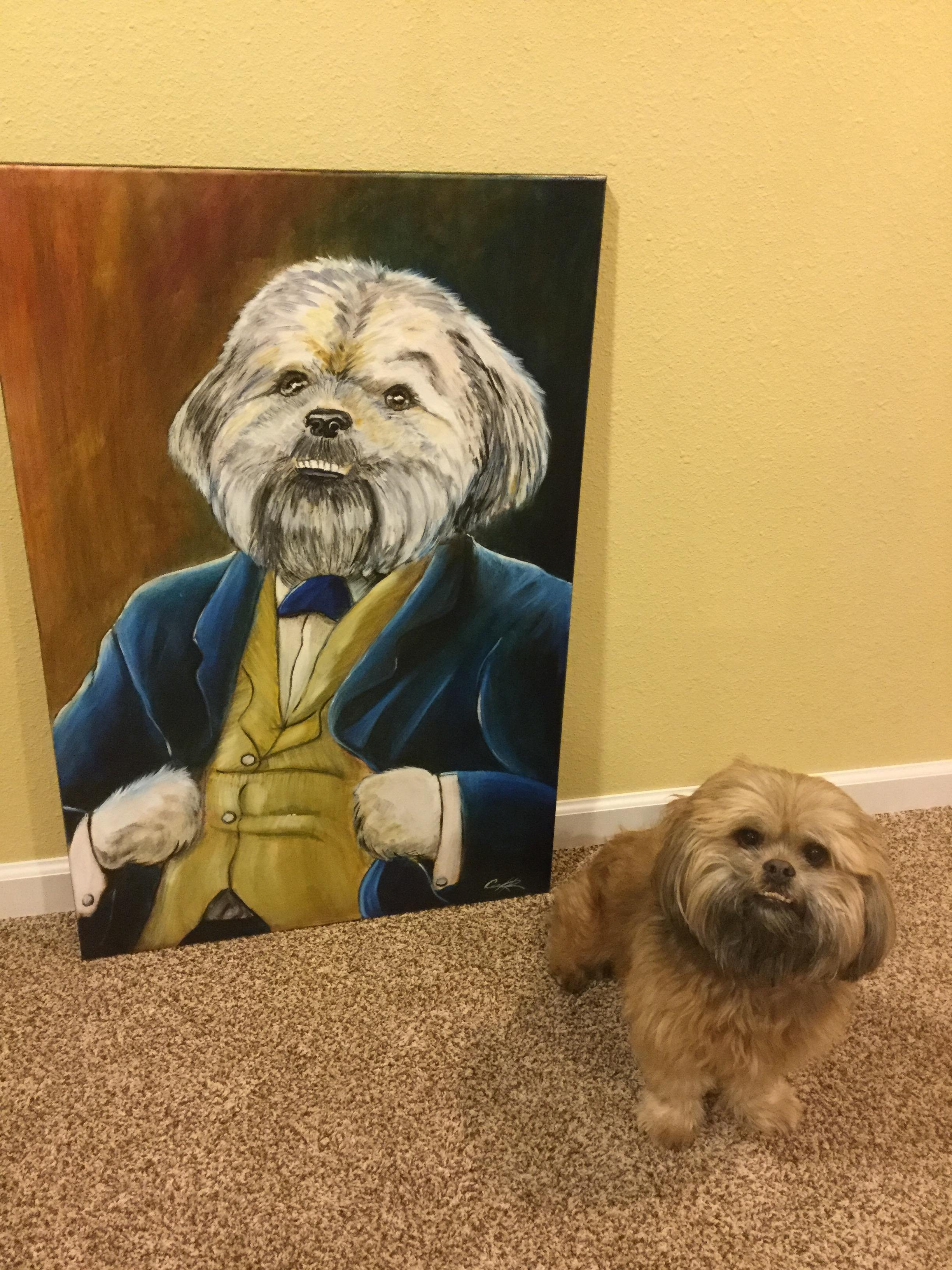 Custom painting of a dog