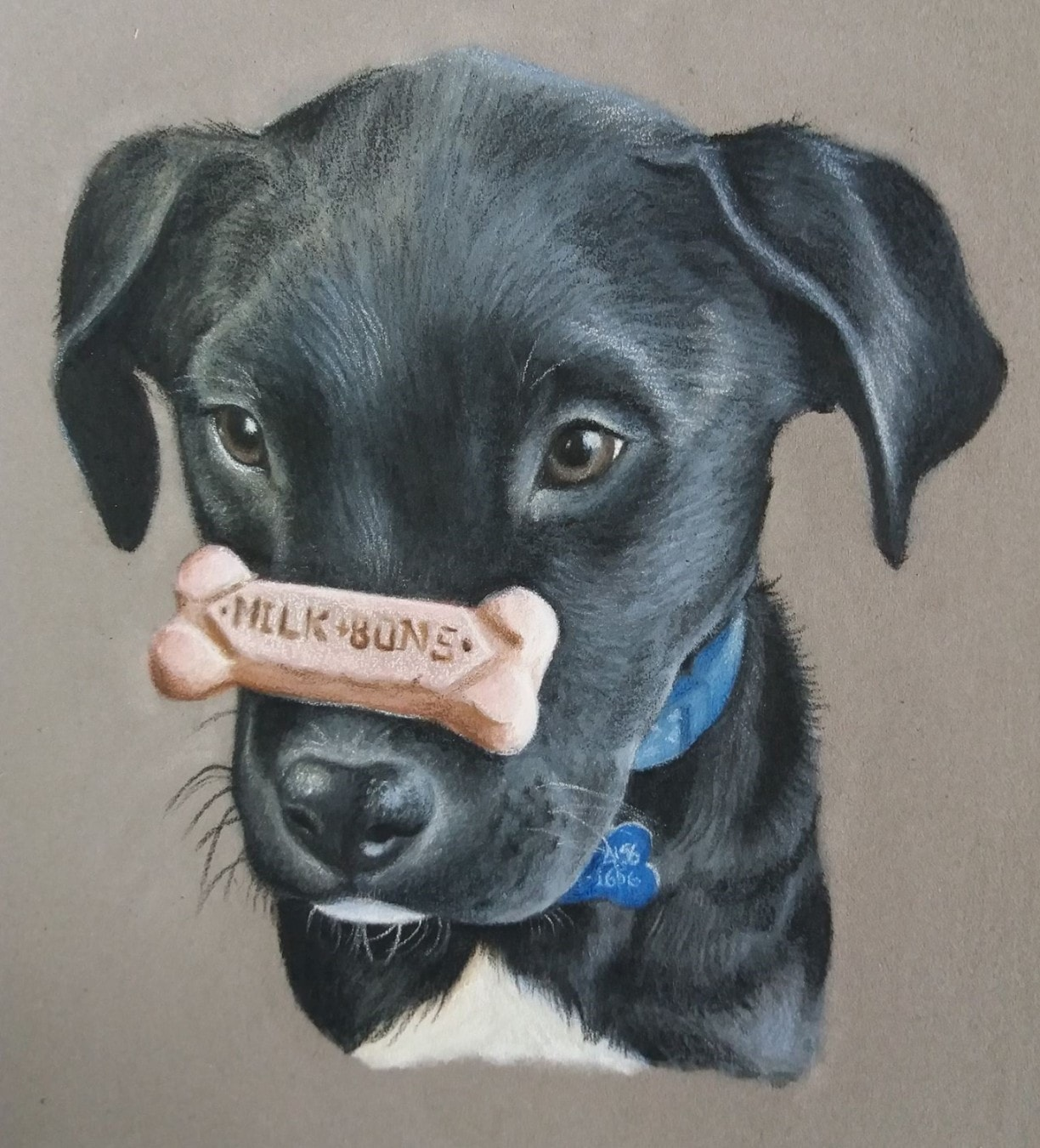 custom dog portrait painting