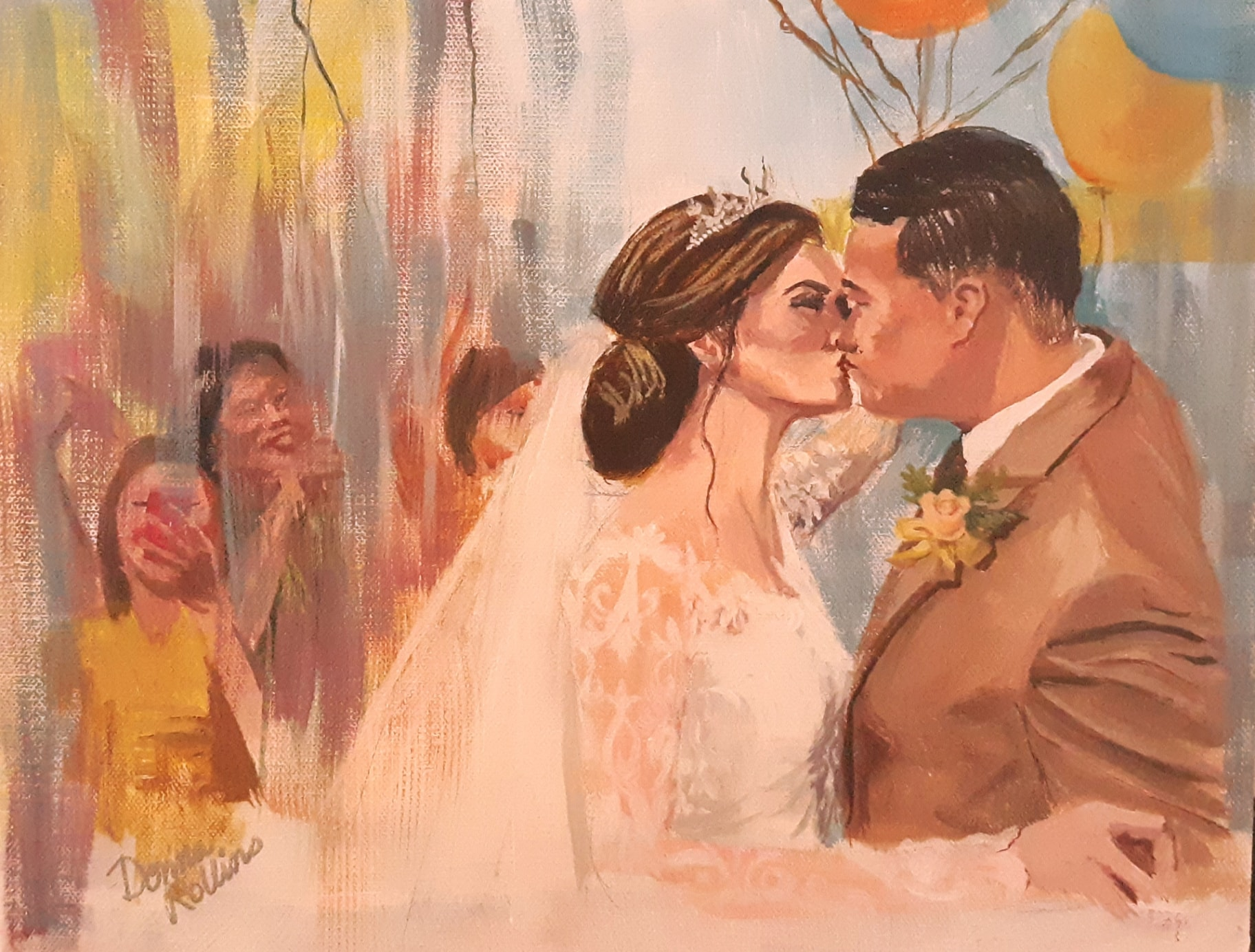 Portrait Painting of Wedding Day