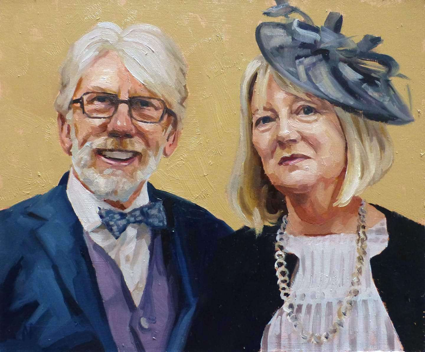 Custom painting of a couple