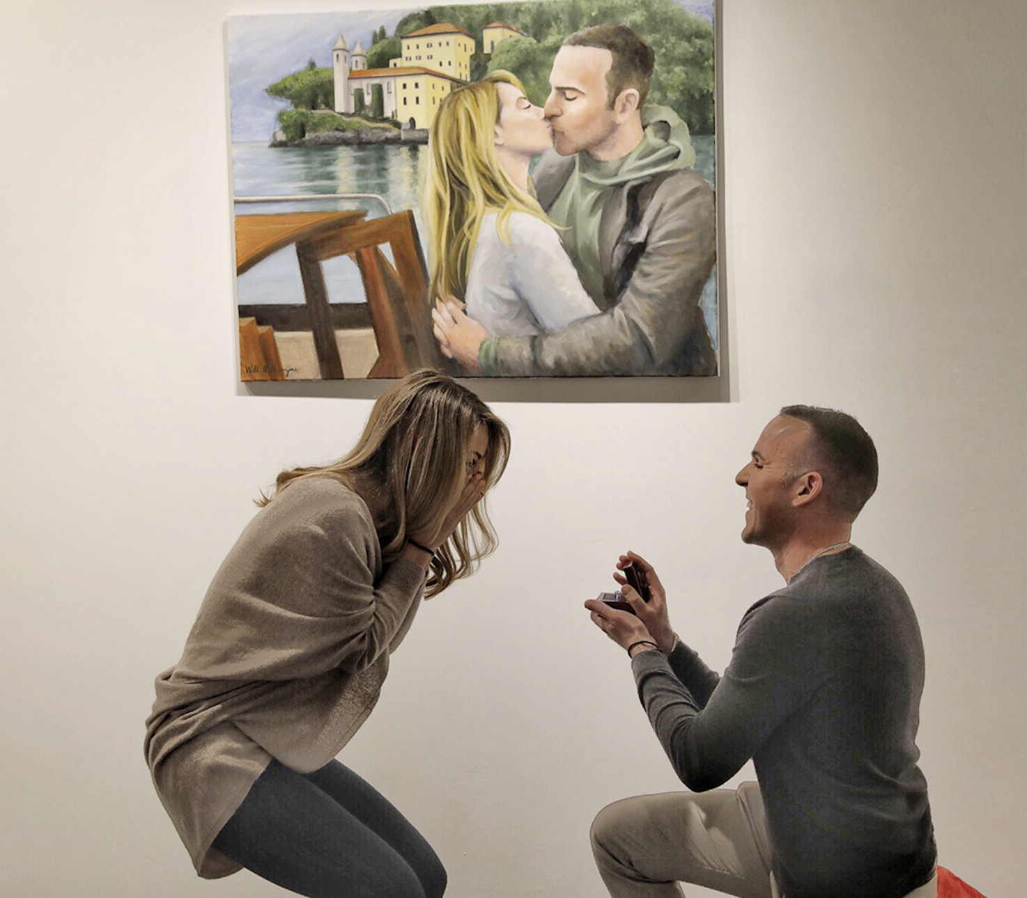 article about commissioned artwork valentines day