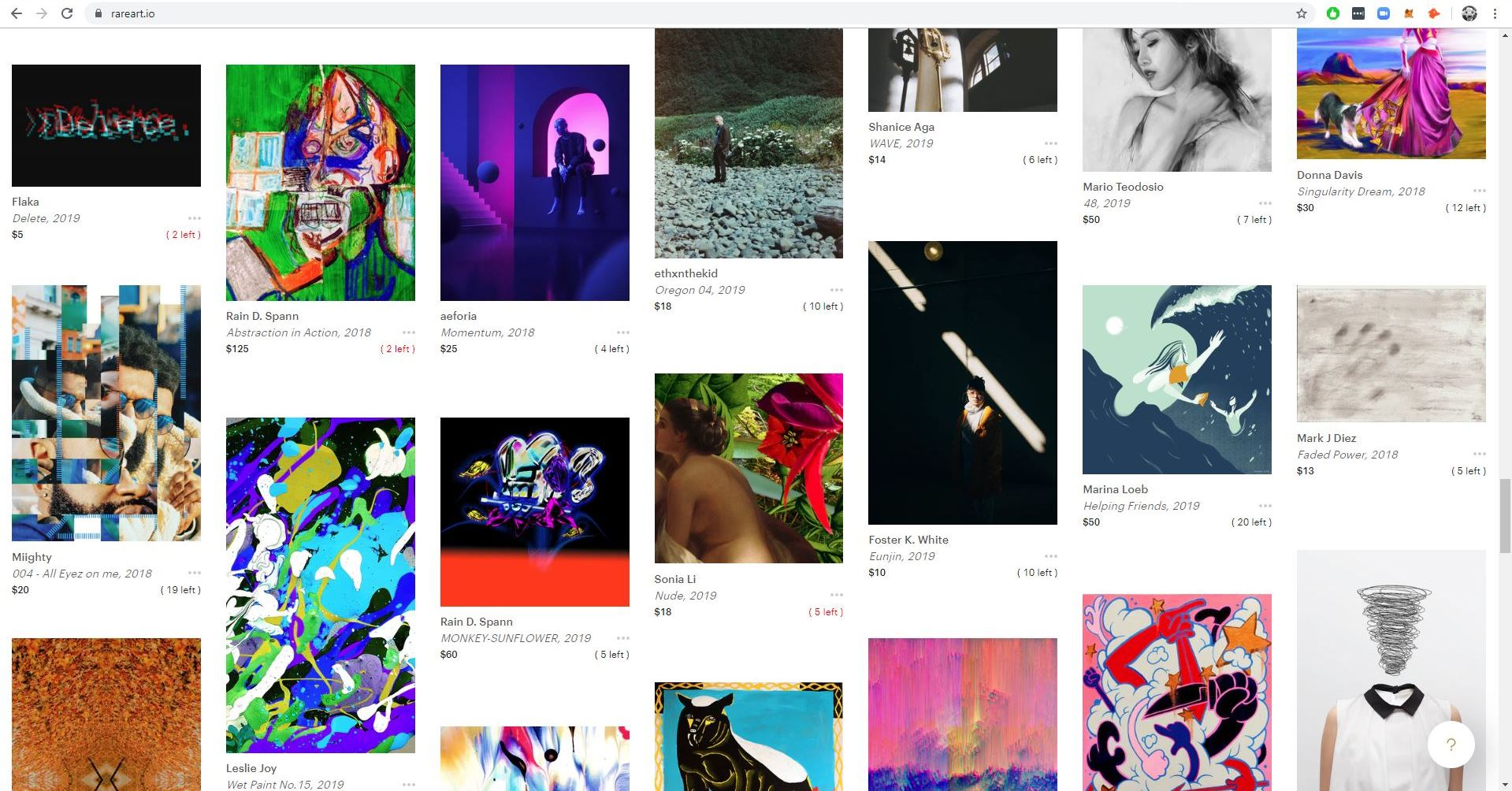 RAREart.io, a marketplace for limited-edition digital art authenticated on the Ethereum blockchain