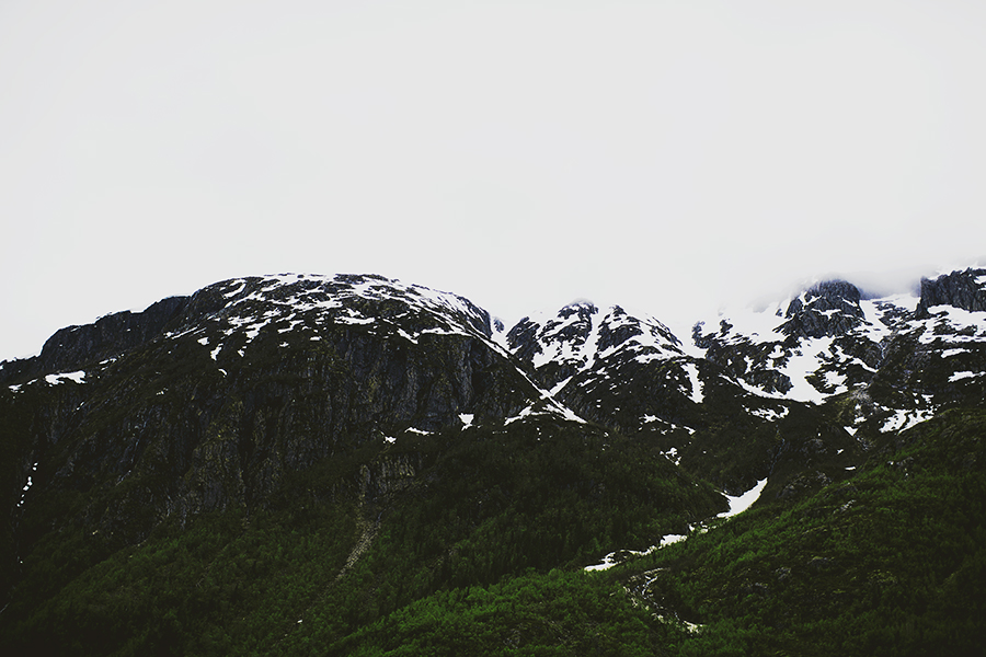 Mountains with snow on top