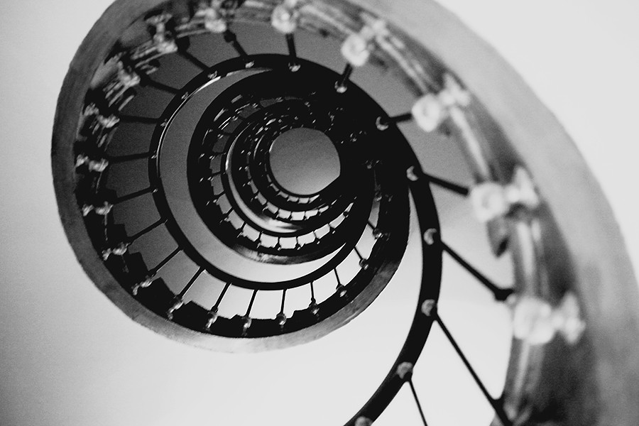 Old staircase in Paris