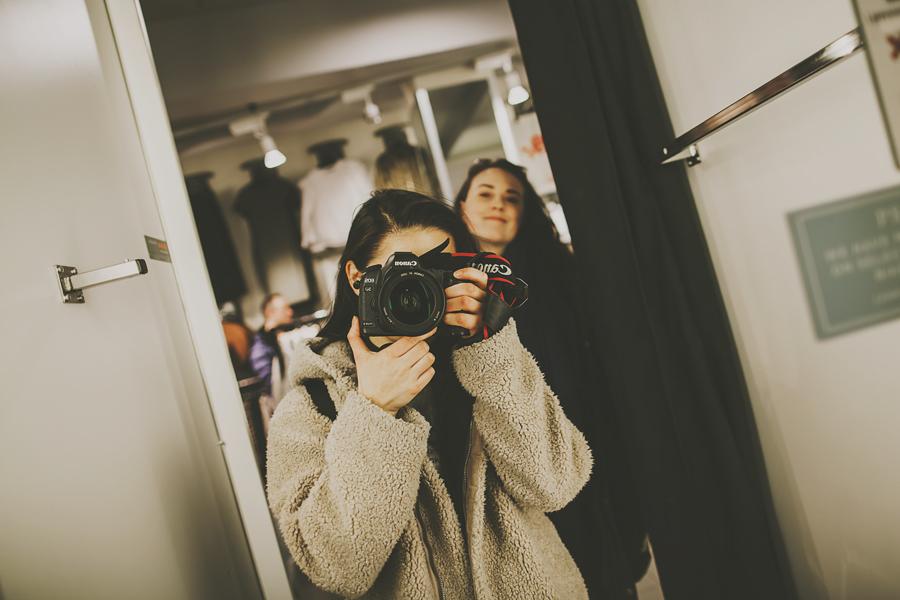 Mirror selfie of two girls