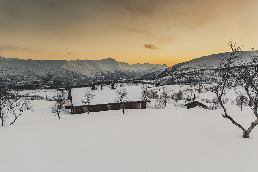 Cabin in the sunset