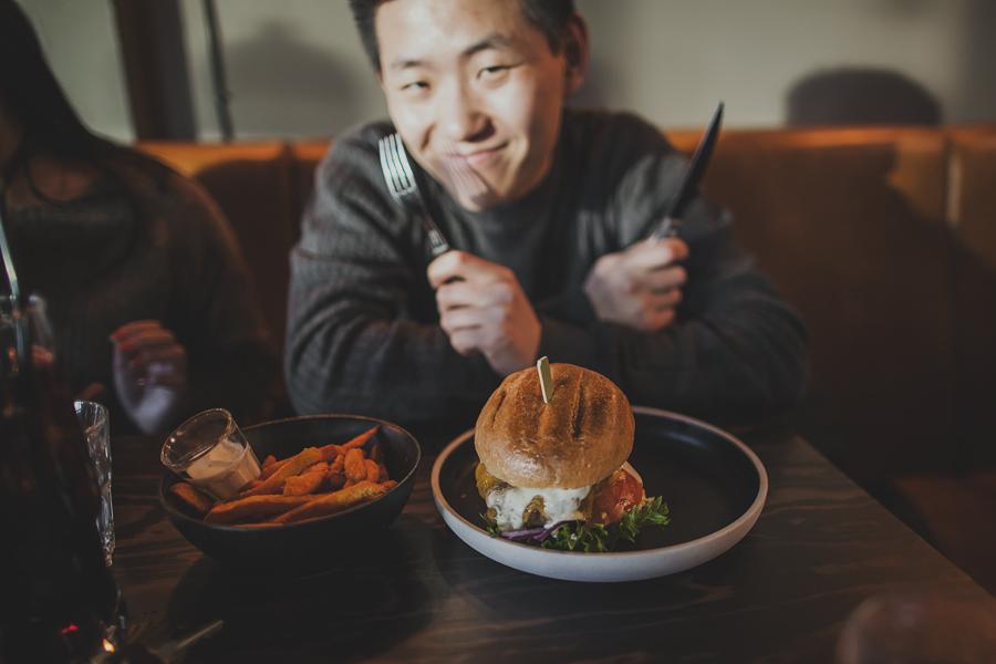 Boy and his burger