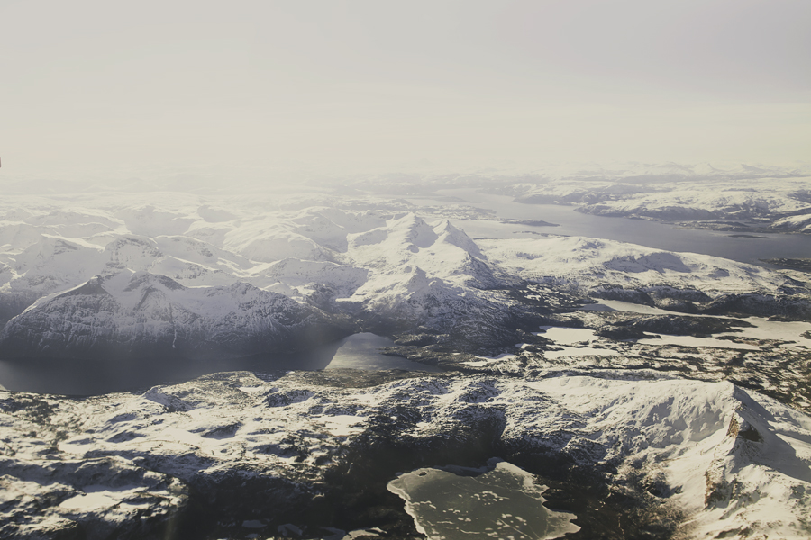 Snow covered mountains peaks