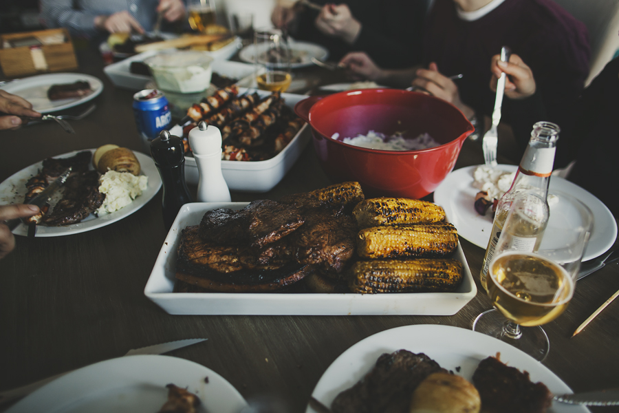 Grilled food on a plate