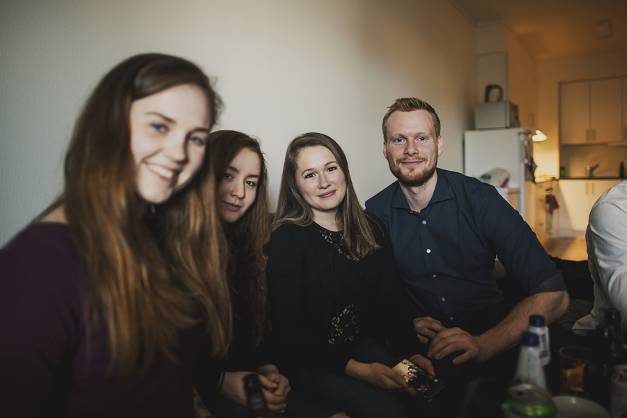 Group of people at a party