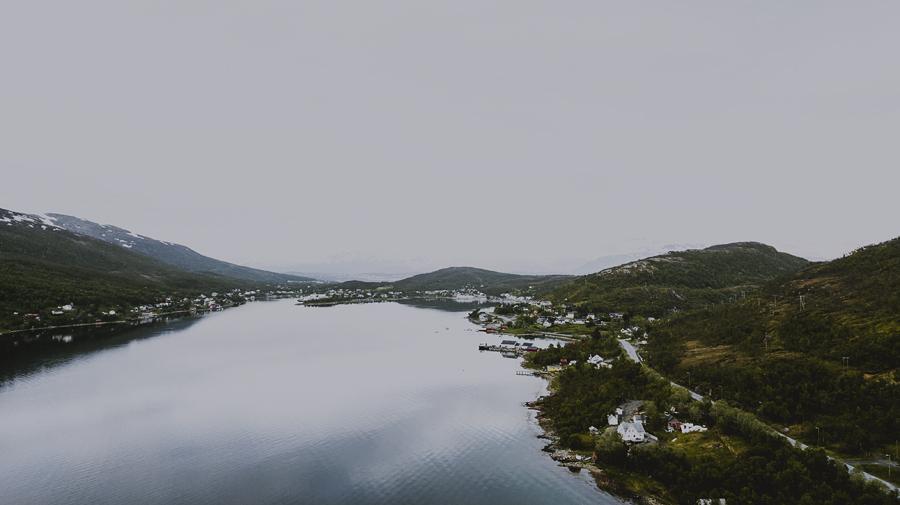 Aerial of Kaldfjord