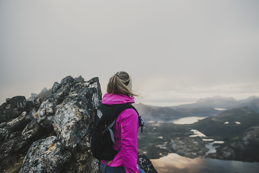 Girl enjoying the mountain view