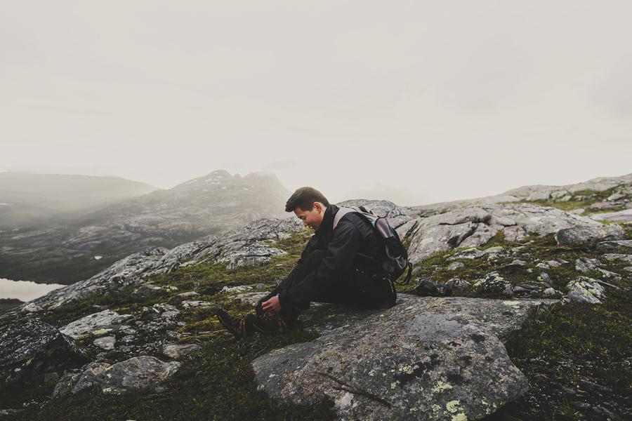 Boy taking a break in nature