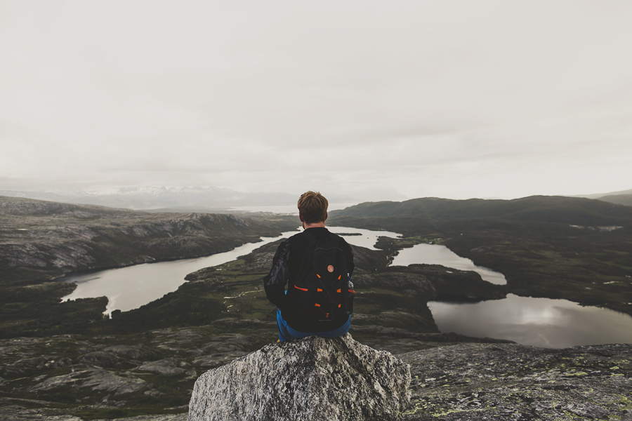 Boy looking at the view
