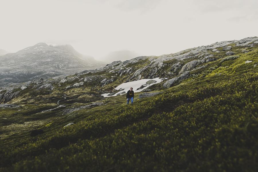 Boy on a hiking trip