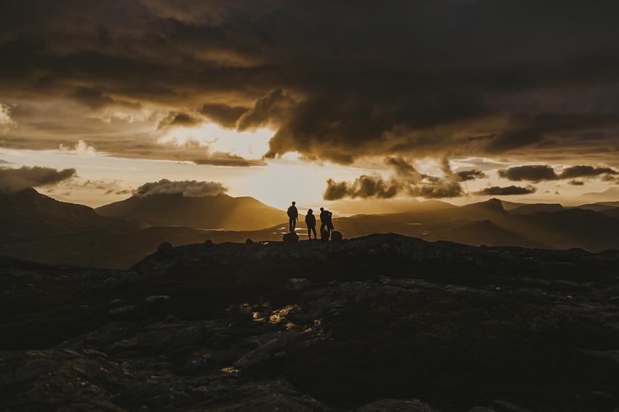 Friends on a hiking trip