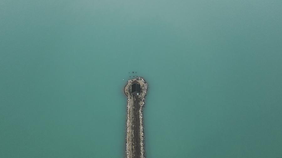 Aerial of Svalbard