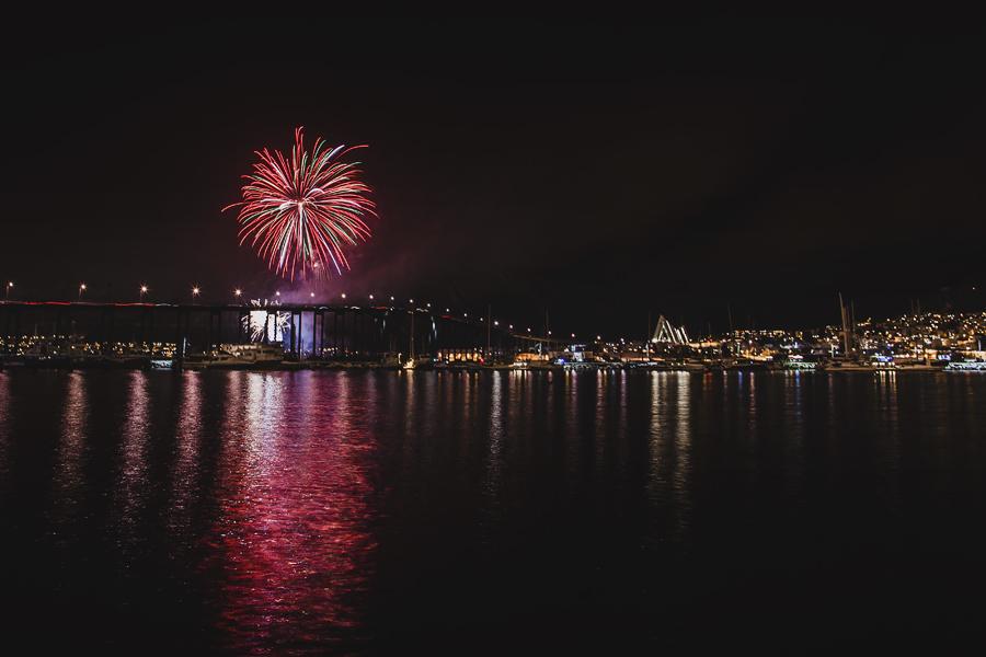 Fireworks in Tromsø