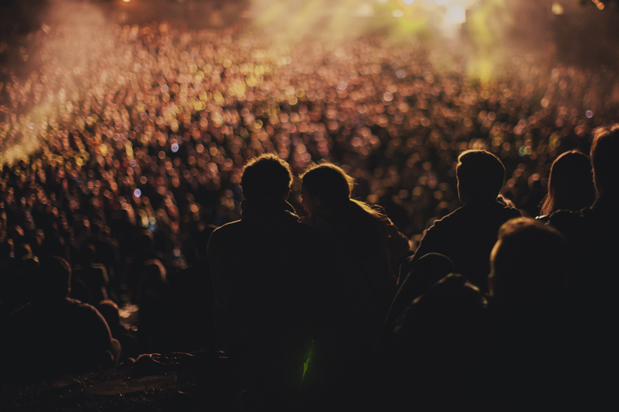 Girl and boy at a concert