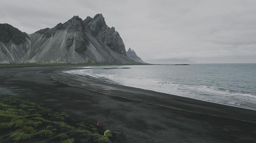 Stokksnes beach in Iceland