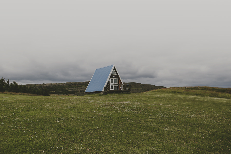 A-frame house in Iceland