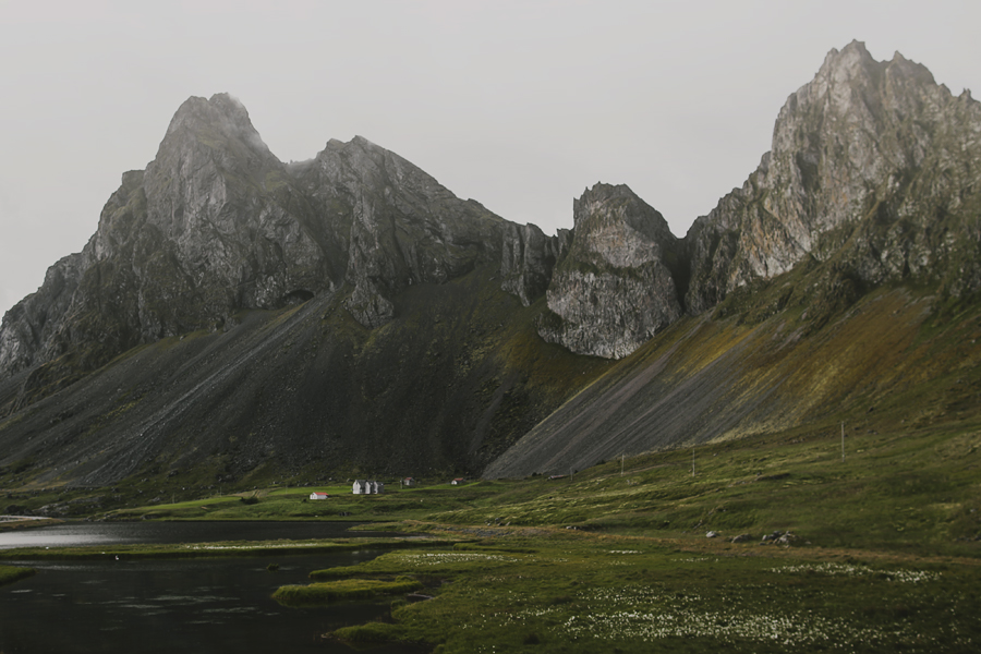 Steep mountains of Iceland