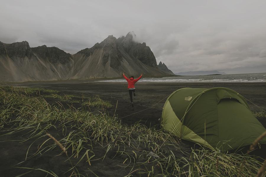 Camping at Stokksnes